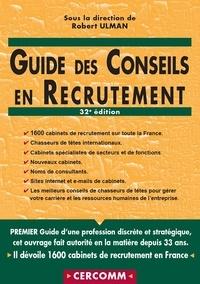 Guide des conseils en recrutement - Robert Ulman pdf epub