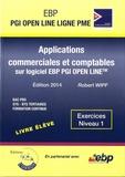 Robert Wipf - Applications commerciales et comptables sur logiciel EBP PGI Open Line Ligne PME - Exercices Niveau 1.