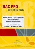 Robert Wipf et Pascale Hoerner - Applications comptables et informatiques 1e professionnelle - Pochette d'exercices.