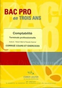 Robert Wipf et Pascale Hoerner - Bac pro Tle professionnelle Comptabilité - Corrigé cours et exercices.