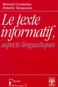 Roberte Tomassone et Bernard Combettes - .