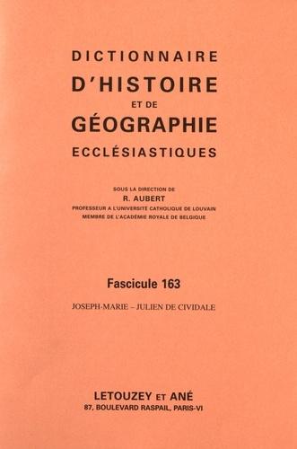 Roger Aubert - Dictionnaire d'histoire et de géographie ecclésiastiques - Fascicule 163, Joseph-Marie - Julien de Cividale.