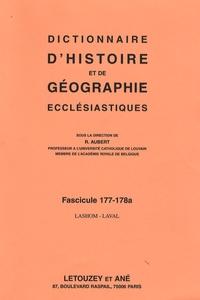 Roger Aubert - Dictionnaire d'histoire et de géographie ecclésiastiques - Fascicule 177-178a, Lashom-Laval.