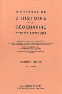 Roger Aubert et Luc Courtois - Dictionnaire d'histoire et de géographie ecclésiastiques - Fascicule 178b - 179 Laval- Lecot.