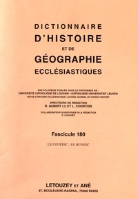 Roger Aubert et Luc Courtois - Dictionnaire d'histoire et de géographie ecclésiastiques - Fascicule 180, Le Couëdic - Le Hunsec.