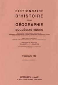 Roger Aubert et Luc Courtois - Dictionnaire d'histoire et de géographie ecclésiastiques - Fascicule 182, Lentolo - Léontiev.