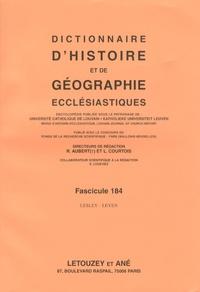 Roger Aubert et Luc Courtois - Dictionnaire d'histoire et de géographie ecclésiastiques - Fascicule 184, Lesley - Leyen.