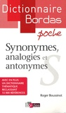 Roger Boussinot - Synonymes, analogies et antonymes.