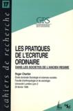 Roger Chartier - Red Ketchup N° 17 : Les pratiques de l'écriture ordinaire dans les sociétés d'Ancien Régime.