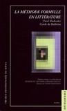 Roger Comtet et Bénédicte Vauthier - La méthode formelle en littérature - Introduction à une poétique sociologique, Pavel Medvedev - Cercle de Bakhtine.