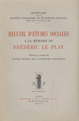 Roger Grand - Recueil d'études sociales publié à la mémoire de Frédéric Le Play.