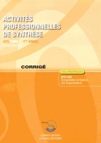 Deedr.fr Activités professionnelles de synthèse APS du BTS CGO 1 - Corrigé Image