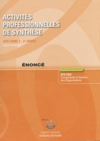Roger Granier - Activités professionnelles de synthèse APS du BTS CGO 2 - Enoncé.