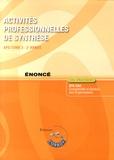 Roger Granier - Activités professionnelles de synthèse APS du BTS CGO Tome 2 - Enoncé.