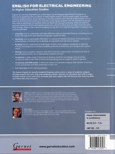 English for Electrical Engineering in Higher Education Studies. Course Book  avec 2 CD audio