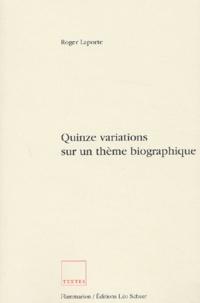 Roger Laporte - .