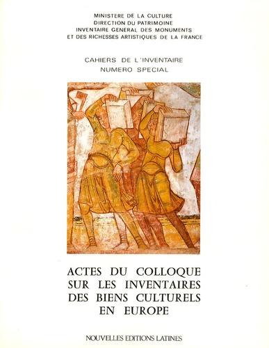 Roger Lehni - Actes du colloque sur les inventaires des biens culturels en Europe.