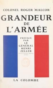 Roger Malcor et Henri Zeller - Grandeur de l'armée - Rôle moral de l'officier.