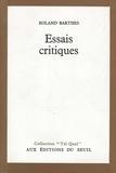 Roland Barthes - Essais critiques.