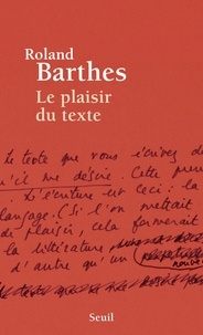 Torrent gratuit pour télécharger des livres Le plaisir du texte (Litterature Francaise) MOBI CHM 9782021242430 par Roland Barthes