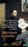 Roland Barthes et Leo Bersani - Littérature et réalité.
