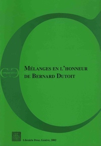 Roland Bieber - Mélanges en l'honneur de Bernard Dutoit.
