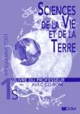 Roland Calderon - Sciences de la Vie et de la Terre 1e S programme 2001 - Livre du professeur. 1 Cédérom