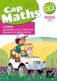 Roland Charnay et Georges Combier - Cap Maths CE2 Cycle 2 - Cahier grandeurs et mesures, espace et géométrie.