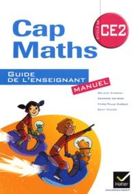 Roland Charnay et Georges Combier - Cap Maths CE2 : Guide de l'enseignant Manuel ; Cahier de géométrie et mesure.