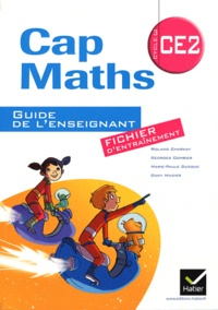 Roland Charnay et Georges Combier - Cap Maths CE2 - Guide de l'enseignant du fichier d'entraînement + cahier de géométrie et mesure.