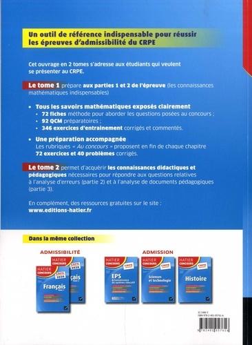Mathématiques. Epreuve écrite d'admissibilité CRPE Tome 2  Edition 2020