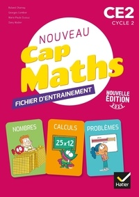 Roland Charnay et Georges Combier - Maths CE2 Cycle 2 CAP Maths - Fichier entrainement, cahier géométrie, livret problèmes et énigmes.