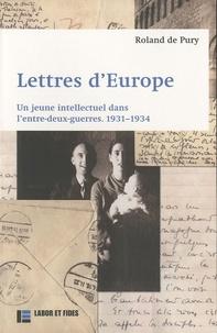 Deedr.fr Lettres d'Europe - Un jeune intellectuel dans l'entre-deux-guerres, 1931-1934 Image