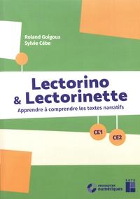 Roland Goigoux et Sylvie Cèbe - Lectorino & Lectorinette CE1-CE2 - Apprendre à comprendre les textes narratifs. 1 Cédérom