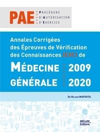 Roland Mafouta - Annales corrigées des épreuves de vérification des Connaissances (EVC) de médecine générale : 2009 – 2020.