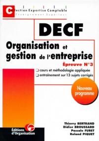 ORGANISATION ET GESTION DE LENTREPRISE . Epreuve n°3, cours et méthodologie appliquée, entraînement sur 13 sujets corrigés, programme 1998.pdf