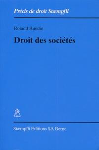 Roland Ruedin - Droit des sociétés.
