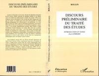 Rollin - Discours préliminaire du Traité des études.