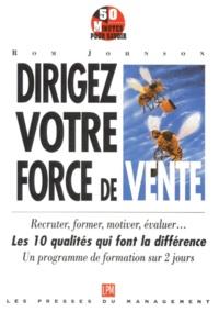 Histoiresdenlire.be DIRIGEZ VOTRE FORCE DE VENTE. - Comment recruter - former - motiver - évaluer Image