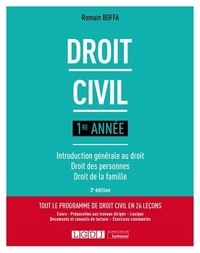 Romain Boffa - Droit civil 1re année - Introduction générale au droit, droit des personnes, droit de la famille.