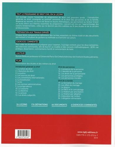 Droit civil 1re année. Introduction générale au droit, droit des personnes, droit de la famille 3e édition