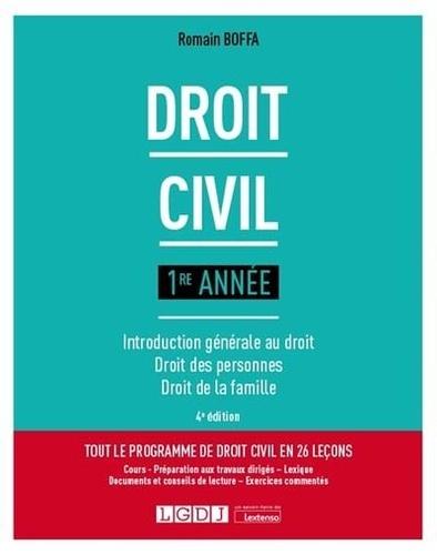 Droit civil 1re année. Introduction générale au droit, droit des personnes, droit de la famille 4e édition