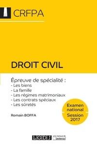 Romain Boffa - Droit civil - Epreuve de spécialité : les biens, la famille, les régimes matrimoniaux, les contrats spéciaux, les sûretés.