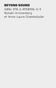 Romain Kronenberg et Anne-Laure Chamboissier - Beyond sound.