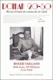 Marie-Thérèse Eychart - Roman 20-50 N° 35/Juin 2003 : Roger Vaillant, Drôle de jeu, 325 000 francs et La Truite - Jacques Chauviré, Gérard Macé, Paul Morand.
