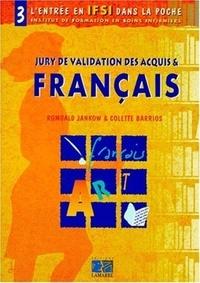 Romuald Jankow et Colette Barrios - Jury de validation des acquis & français.