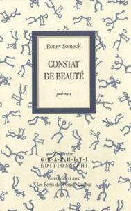 Ronny Someck - Constat de beauté.