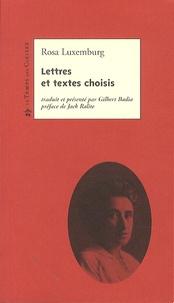 Rosa Luxemburg - Lettres et textes choisis.