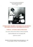 Rosie Findlay et Sébastien Salbayre - GRAAT N° 36, Juin 2007 : Histoires d'enfant, histoires d'enfance - Tome 2, Littérature.
