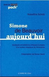 Roswitha Scholz - Simone de Beauvoir aujourd'hui.
